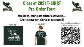 Class of 2021 T-Shirt Orders