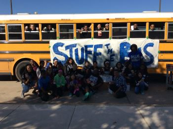 Stuff the Bus: AVID students Give Back to Community