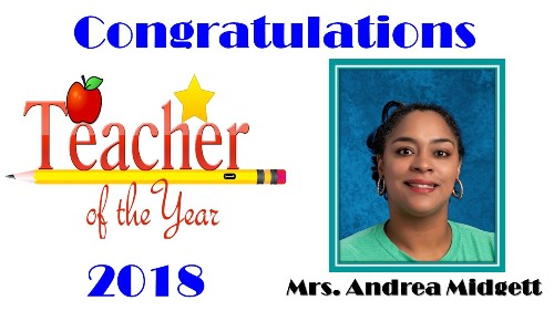 TAH Teacher of the Year 2018 Andrea Midgett
