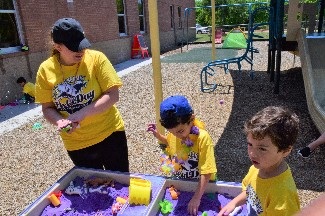 PPCD kids playing on field day